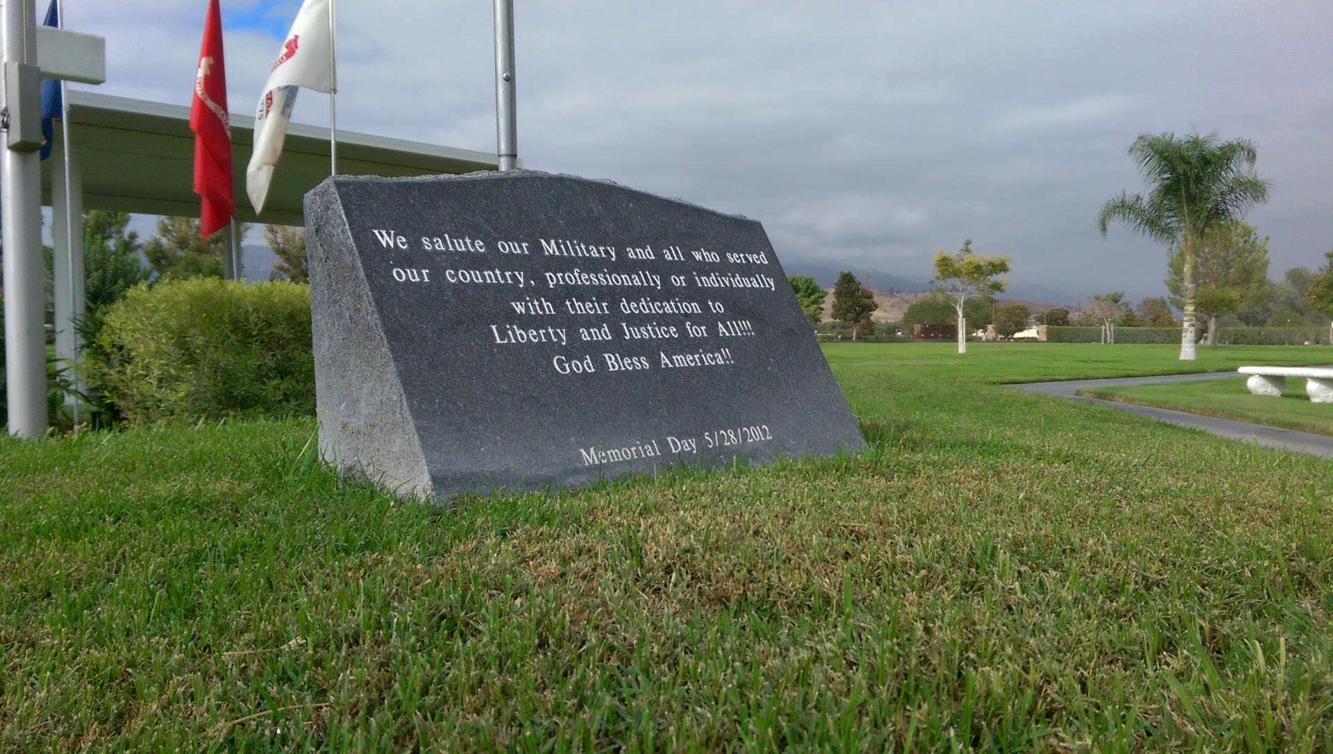 stone memorial day monument